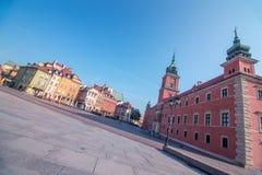 Sikt av den gamla staden i Warszawa, Polen Royaltyfri Foto