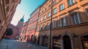 Sikt av den gamla staden i Warszawa, Polen Royaltyfria Bilder