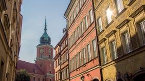 Sikt av den gamla staden i Warszawa, Polen Royaltyfri Fotografi
