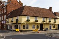 Sikt av den gamla staden av Salisbury, UK fotografering för bildbyråer