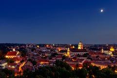 Sikt av den gamla staden Vilnius Arkivfoton