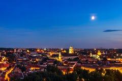 Sikt av den gamla staden Vilnius Royaltyfria Foton