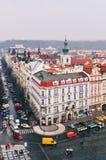 Sikt av den gamla stadfyrkanten i Prague Royaltyfri Fotografi