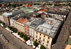 Sikt av den gammala townen av Cracow Royaltyfri Fotografi