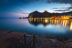 Sikt av den Genoese fästningen Fotografering för Bildbyråer