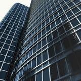 Sikt av den glass byggnaden, höghus, skyskrapa, kommersiell modern stad av framtid Ekonomiskt och finansiellt Royaltyfria Bilder
