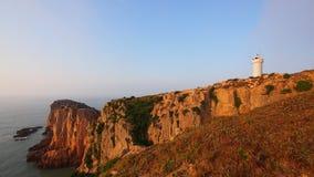 Sikt av den Gouqi ön, Kina östligt hav Royaltyfria Bilder