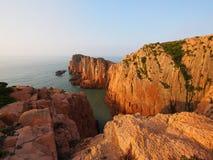 Sikt av den Gouqi ön, Kina östligt hav Arkivfoto