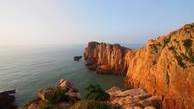 Sikt av den Gouqi ön, Kina östligt hav Royaltyfri Foto