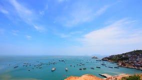 Sikt av den Gouqi ön, Kina östligt hav Royaltyfri Bild