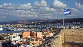 Sikt av den grekiska ön av Kreta royaltyfri foto