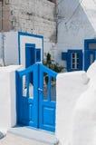 Sikt av den grekiska gården Arkivbilder
