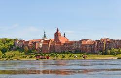 Sikt av den Grudziadz staden, Polen Royaltyfri Foto