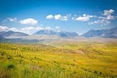 Sikt av den härliga naturen i den Gjirokaster regionen, Albanien Royaltyfri Bild