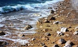 Sikt av den härliga stranden nära Dubrovnik Arkivbild