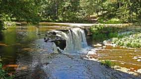 Sikt av den härliga vattenfallet Royaltyfri Bild
