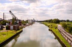 Sikt av den Hamm floden Arkivfoto