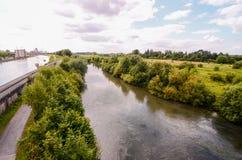Sikt av den Hamm floden Arkivbild