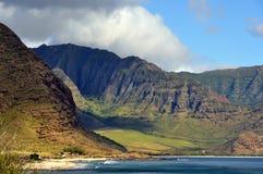 Sikt av den hawaianska kustlinjen Royaltyfri Foto