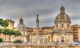 Sikt av den historiska delen av Rome Arkivbild