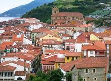 Sikt av den historiska delen av Santander Royaltyfria Foton