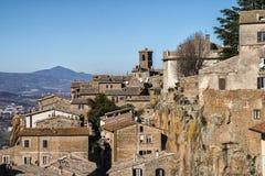 Sikt av den historiska mitten av Orvieto Royaltyfri Foto