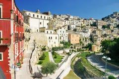 Sikt av den historiska mitten av Ragusa i Sicily Arkivfoton