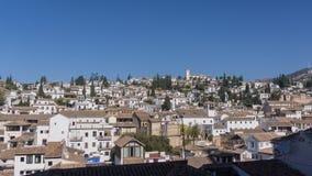 Sikt av den historiska staden Albaicin Granada, Spanien Royaltyfria Bilder
