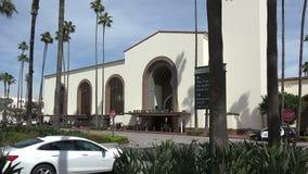 Sikt av den historiska unionstationen i Los Angeles stock video