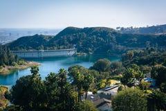Sikt av den Hollywood behållaren, i Los Angeles, Kalifornien arkivbild