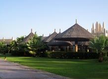 Sikt av den hotellRiu slotten Cabo Verde, Sal, Boa Vista arkivbilder