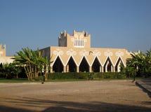 Sikt av den hotellRiu slotten Cabo Verde, Sal, Boa Vista royaltyfria foton