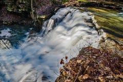 Sikt av den huvudsakliga vattenfallet av de Fenwick minvattenfallen fotografering för bildbyråer