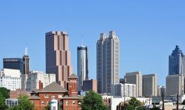 Sikt av den i stadens centrum Atlantaen, USA horisont royaltyfria foton