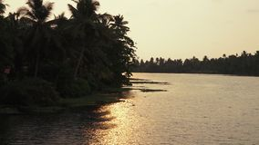 Sikt av den indiska kusten från ett fartyg stock video