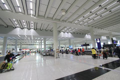 Sikt av den internationella flygplatsen i Hong Kong Royaltyfri Foto
