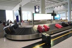 Sikt av den internationella flygplatsen i Hong Kong Royaltyfri Fotografi