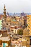 Sikt av den islamiska Kairo Royaltyfri Bild