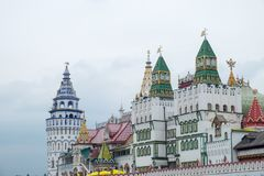 Sikt av den Izmailovsky Kreml i Moskva, Ryssland arkivfoto