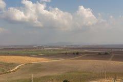 Sikt av den Jezreel dalen i Israel royaltyfria foton