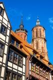 Sikt av den Johannis kyrkan i Gottingen - Tyskland Arkivfoto