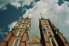 Sikt av den John The Baptist domkyrkakyrkan Fotografering för Bildbyråer