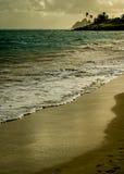 Sikt av den Kailua stranden royaltyfri fotografi
