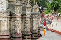 Sikt av den Kamakhya templet, Guwahati, Assam Royaltyfria Foton
