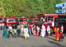 Sikt av den Kandy gatan Arkivfoto