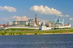 Sikt av den Kazan Kreml Arkivfoton