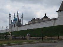 Sikt av den Kazan Kreml Kazan, Ryssland fotografering för bildbyråer