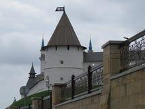 Sikt av den Kazan Kreml Kazan, Ryssland royaltyfri bild