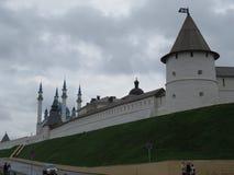 Sikt av den Kazan Kreml Kazan, Ryssland royaltyfria bilder