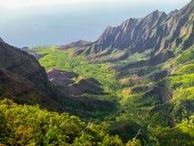 Sikt av den Kokee delstatsparken, hawaii royaltyfri foto
